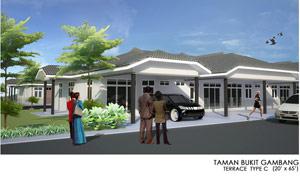 Taman Bukit Gambang - Terrace Type C